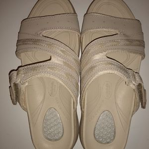 Dr. Scholls Leather Sandals Womens Size 6M Taupe